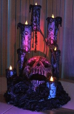 House of Dewberry: DIY Halloween Creepy Candles...... Can I please have this somewhere at my wedding????? It's gorgeous!!!