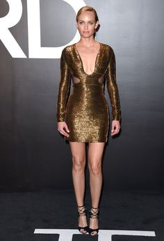 Tom Ford Autumn/Winter 2015 Womenswear Collection Presentation..Milk Studios, Hollywood, California..February 20, 2015..Job: 150220A1..(Photo by Axelle Woussen/Bauer-Griffin)..Pictured: Amber Valletta.