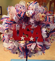 A personal favorite from my Etsy shop https://www.etsy.com/listing/538920739/july-4th-wreath