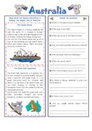 English Worksheets Australia crossword No. 2 School