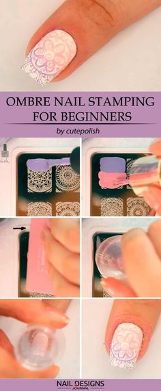 5 Ways To Do Nail Stamping Designs And Useful Tips For Everyone ❤️ Ombre Nail Stamping For Beginners ❤️ Everything is a lot easier when you have a complete guide on how to pull it off, nail stamping is not the exception.  https://naildesignsjournal.com/nail-stamping-tutorials/ #naildesignsjournal #nails