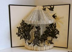 Altered Book - Sunday Silhouettes by Raiders of The Lost Art via Etsy