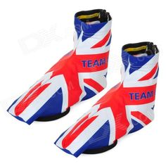 Monton UK National Flag Style Anti-Slip Cycling Shoe Cover - Blue   White   Red (Size XL) Price: $12.60