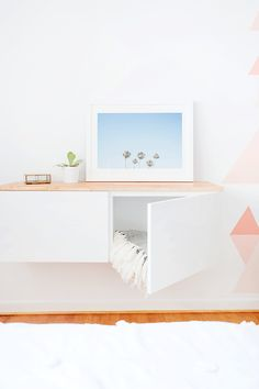 These 10 DIY IKEA Hacks will save you so much money on your furniture! Find some… These 10 DIY IKEA Hacks will save you so. Ikea Storage, Storage Hacks, Storage Ideas, Storage Solutions, Bedroom Storage, Table Storage, Dresser Storage, Nursery Storage, Shoe Storage
