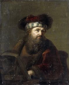 Art Print: A Man in Oriental Costume (Portrait of a Rabbi) by Ary de Vois & Rembrandt van Rijn : Rembrandt Portrait, Rembrandt Art, Rembrandt Paintings, Baroque Art, Religious Paintings, Dutch Painters, Jewish Art, Dutch Artists, Gravure