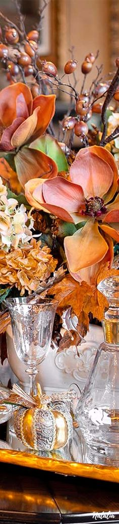 Orange Wedding Colors, Elegant Table Settings, Holiday Fun, Holiday Decor, Warm Autumn, Fall Table, Floral Crown, Southern Style, Happy Thanksgiving
