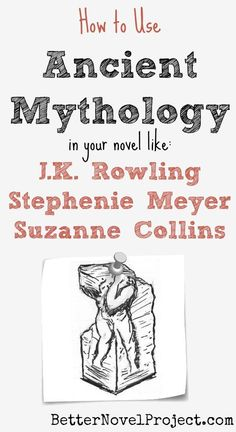 Writing Mythology Harry Potter meets the myth. Katniss Everdeen fights like a myth. The use of a familiar myth helps make the magic more plausible because you already have practice in imagining these fantastic gods and creature Book Writing Tips, Writer Tips, Writing Quotes, Writing Resources, Writing Help, Writing Skills, Writing Prompts, Writing Guide, Story Prompts