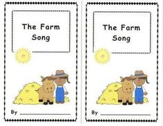 """$This fun emergent reader is based on """"The Farm Song"""" rhyme. Students complete the sentences and color. A perfect companion for Literacy Centers and partner reading. A song poster page is also included.Add to the fun and have students  use for """"Reader's Theater""""!"""