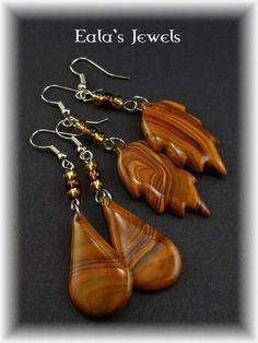 Faux wood earrings by Shatiel85.deviantart.com on @DeviantArt
