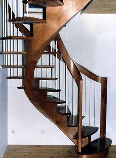 handrail into post