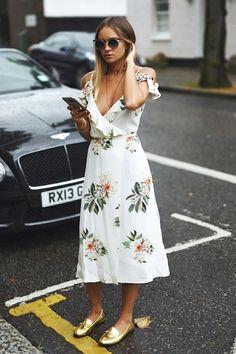 Must-Have: The Cold-Shoulder Floral Print Dress (Le Fashion)