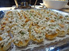 Hors d'oeuvres - Chicken Salad Tartlets Catering by Debbi Covington - Beaufort, SC www.cateringbydebbicovington.com 843-525-0350