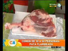 En Cocineros Argentinos... Pata de ternera flambeada - YouTube