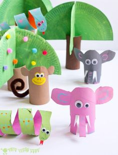 Jungle Book Paper Tube Craft | I don't know which animal to make first!
