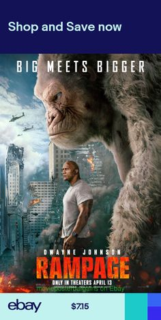 Directed by Brad Peyton. With Dwayne Johnson, Naomie Harris, Malin Akerman, Jeffrey Dean Morgan. When three different animals become infected with a dangerous pathogen, a primatologist and a geneticist team up to stop them from destroying Chicago. Dwayne Johnson Movies, The Rock Dwayne Johnson, Best Action Movies, Good Movies, Rampage Movie, Download Free Movies Online, English Movies, Jeffrey Dean Morgan, Hindi Movies