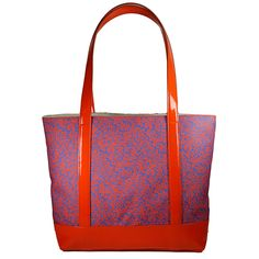 Fabric and Patent Tote