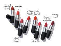 Revue de rouge à lèvres MAC Kiss Powder + Swatches - Camaraderie Limited Mac Chili Lipstick, Mac Matte Lipstick, Brown Lipstick, Lipstick Shades, Red Lipsticks, Lipstick Brands, Pat Mcgrath, Charlotte Tilbury, Mac Powder