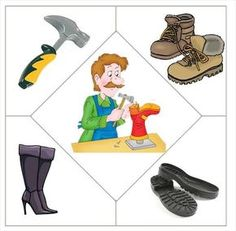 This page has a lot of free easy Community helper puzzle for kids,parents and preschool teachers. Preschool Jobs, Community Helpers Preschool, Preschool Education, Kids Learning Activities, Preschool Worksheets, Preschool Activities, Puzzle Crafts, Community Workers, Puzzles For Kids