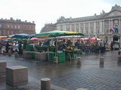 Le marché bio, Place du Capitole, Toulouse, Haute Garonne, Midi-Pyrénées