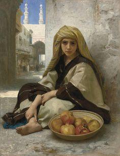 William Adolphe Bouguereau ( 1825-1905) * Marchande de Grenades, 1875