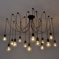Industrial Vintage Ceiling Lights Retro Lamps Chandelier Fitting Home Decoration in Home, Furniture & DIY, Lighting, Ceiling Lights & Chandeliers | eBay