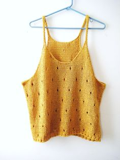 Buttercup Yellow Knit Tank Top