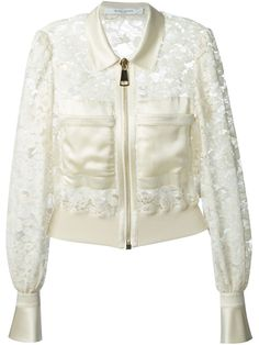 Givenchy Cropped Floral Lace Jacket - Eraldo - Farfetch.com