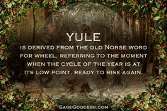 Yule is derived from the Old Norse word for wheel. Pagan Yule, Norse Pagan, Old Norse, Norse Mythology, Samhain, Yule Traditions, Christmas Traditions, Pagan Christmas, Christmas Medley