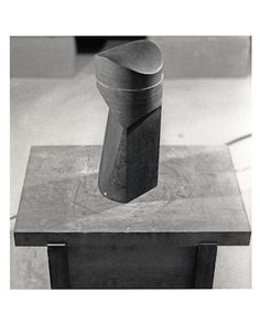 "thenoguchimuseum: Photograph by Isamu Noguchi of an untitled ""core"" sculpture, Swedish granite, 1978Resulting from the core drilling into largescale basalt and granite sculptures at his Mure studio, Noguchi recognized that these by- products possessed their own enigmatic qualities. With slight modifications, Noguchi would later display these recycled ""core"" pieces in his studio and, inevitably, the museum. The Noguchi Museum"