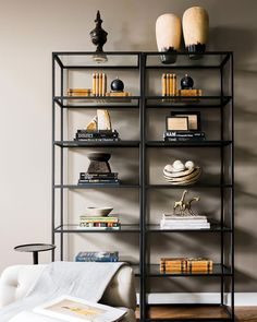We think @j_wheelerdesigns perfected the #shelfie in this Atlanta media room!! See the rest of the space at ruemag.com.  by @rusticwhite