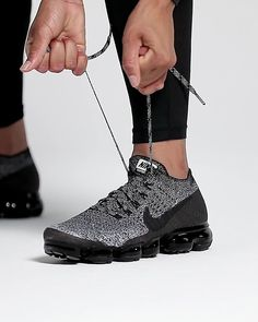 d620cce1c80 Video really shows off this Athletic Shoe! NIKE AIR VAPORMAX FLYKNIT TRIPLE  NOIR. With