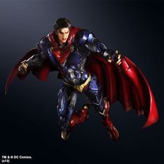 cousin as the Superman DC Comics Play Arts Kai Variant Action Figure ...