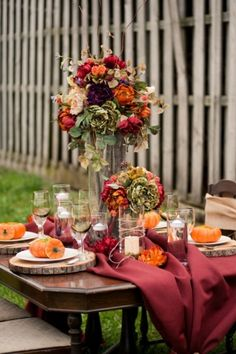 35 Amazing Fall Wedding Table Decor Ideas Weddingomania | Weddingomania