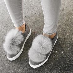 I don't care what anyone says - I love my pom pom shoes! (Source: Marianna Hewitt)