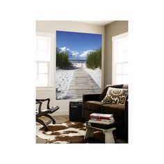 Boardwalk Leading to Beach, Liepaja, Latvia Wall Mural Art (£120) ❤ liked on Polyvore featuring home, home decor, wall art, baseball, baseball players, baseball players by name, entertainment, g, mlb and sports