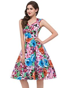 GRACE KARIN Women Floral Homecoming Prom Dress Short for Women CL7600 at  Amazon Women s Clothing store  Vintage ŠatyKrátke ... b3502ba8968