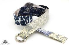 Gürtel, sehr feminin, im Patchwork-Stil, mit Schnallen; 3 cm breit, 103 cm lang, grau, Stoffgürtel gemustert, Patchworkgürtel mit Blumenmuster, dunkelblau, marine, hellgrau
