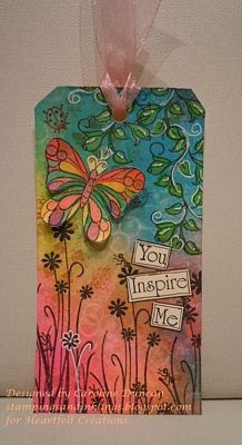 Butterfly Inspirational Tag by Caroline Duncan