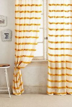 Anthropologie Swing Stripes Curtain #anthrofave #sale