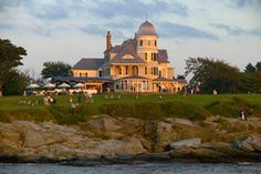 Castle Hill Inn - Newport, Rhode Island (stayed here May 2005). Inn At Castle Hill, Narragansett Bay, Rhode Island History, New England Travel, Newport Rhode Island, Flowers Online, Perfect Place, Beautiful Places, Wonderful Places
