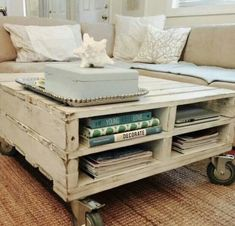 Coffee table made from old pallets