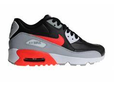 the best attitude fb4a6 ce9bf Nike Air Max 90 LTR (GS) Black Red Grey White 833412 024 Juniors  Sneakers