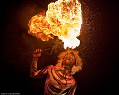 in Mangalore dasara Tiger Dance, Circus Pictures, Breathing Fire, Wind Rises, Creative Party Ideas, Mangalore, Circus Art, Fire Art, Photo Manipulation