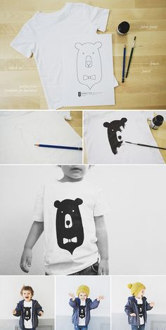 Studio ToutPetit: Tutorial Tuesdays * Bear T-Shirt