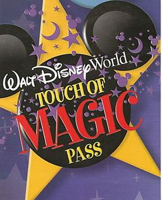 Disney Touch of Magic Tickets - 3 or at a big park and a Plus option for a smaller park like a Disney water park. Disney World Tickets, Disney Vacations, Walt Disney World, Disney Water Parks, Disney Countdown, Annual Pass, Orlando Vacation, Promotion, Lovers