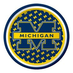 Creative Converting Michigan Wolverines Dessert Paper Plates (8 Count) by Creative Converting. $5.99. 8 count. Collegiate NCAA team logo dessert paper plates. The perfect supplies for your tailgating, Bowl game or sports themed party - show your team spirit and pride. See Creative Converting's coordinating line of party favors and dinnerware - inflatable fingers, wrist bands, head bands, pom poms, cheer sticks, cups, plates, napkins, chip trays and décor. Mea...