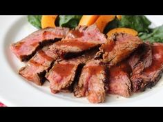 Beerbecue Beef Flank Steak - Grilled Flank Steak with Beer Barbecue Sauce - Father's Day Special - YouTube