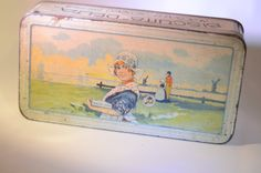 French Vintage Biscuit Tin by artandsalvage on Etsy