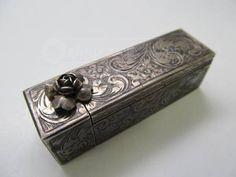 Vintage Peruzzi Silver Lipstick Case