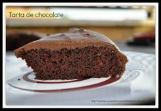Tarta de chocolate, sin huevos ni leche